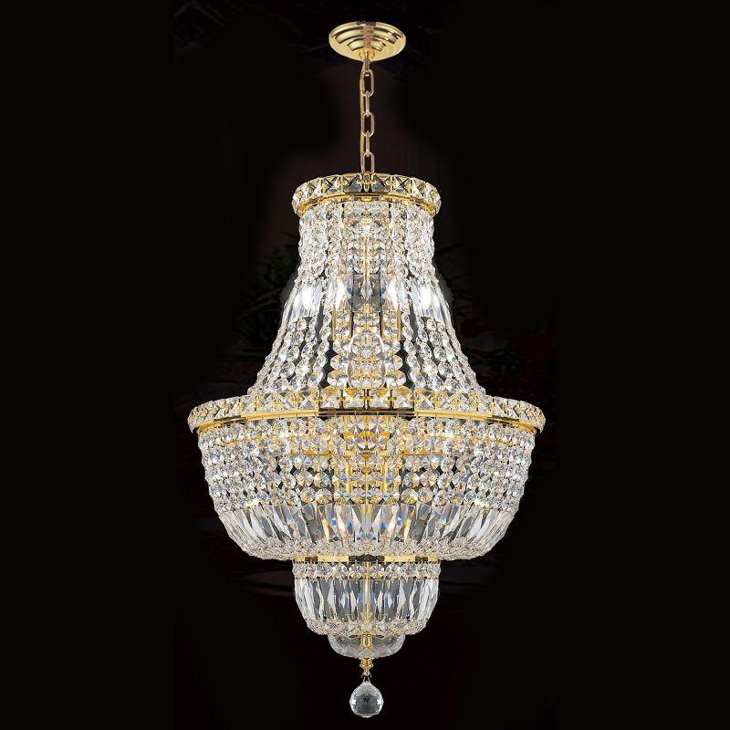 "Worldwide Lighting W83032G18 Empire 12 Light 1 Tier 18"" Gold"