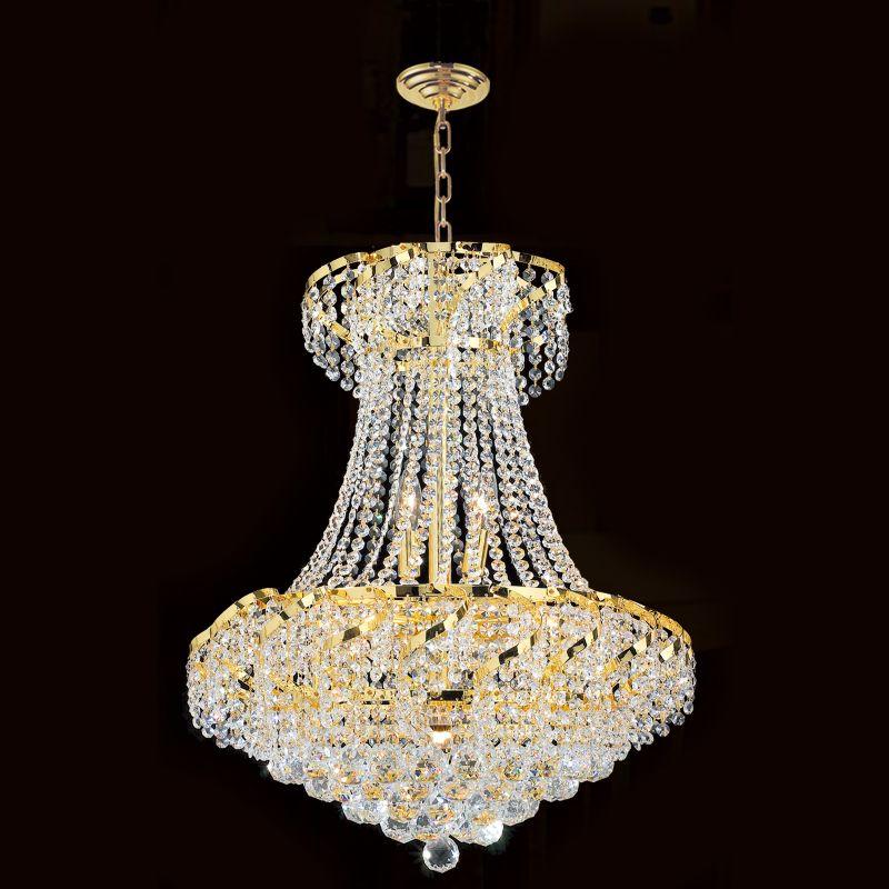 "Worldwide Lighting W83034G22 Empire 11 Light 1 Tier 22"" Gold"