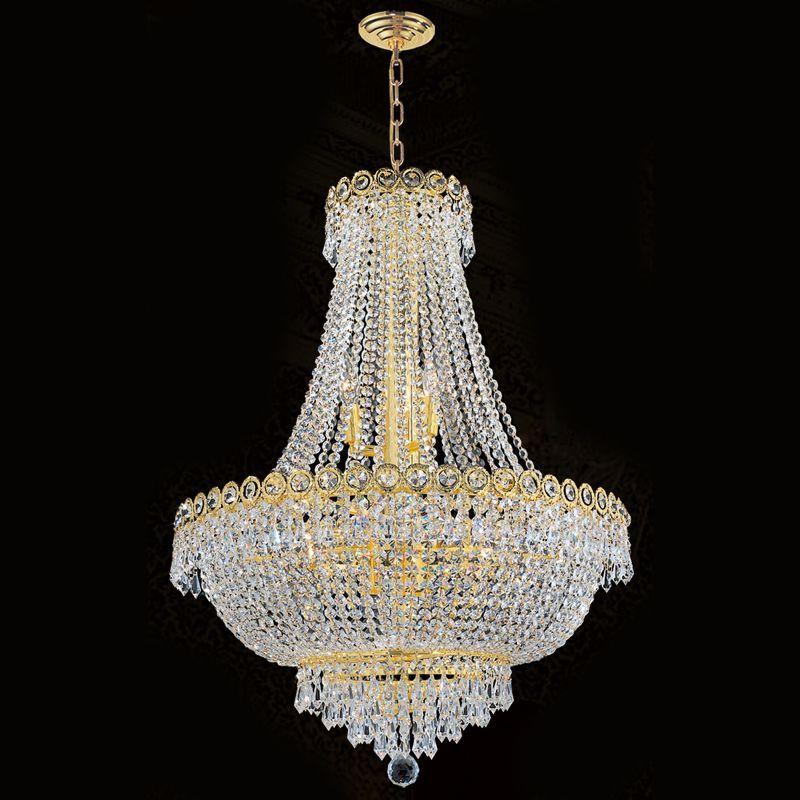 "Worldwide Lighting W83048G24 Empire 12 Light 1 Tier 24"" Gold"