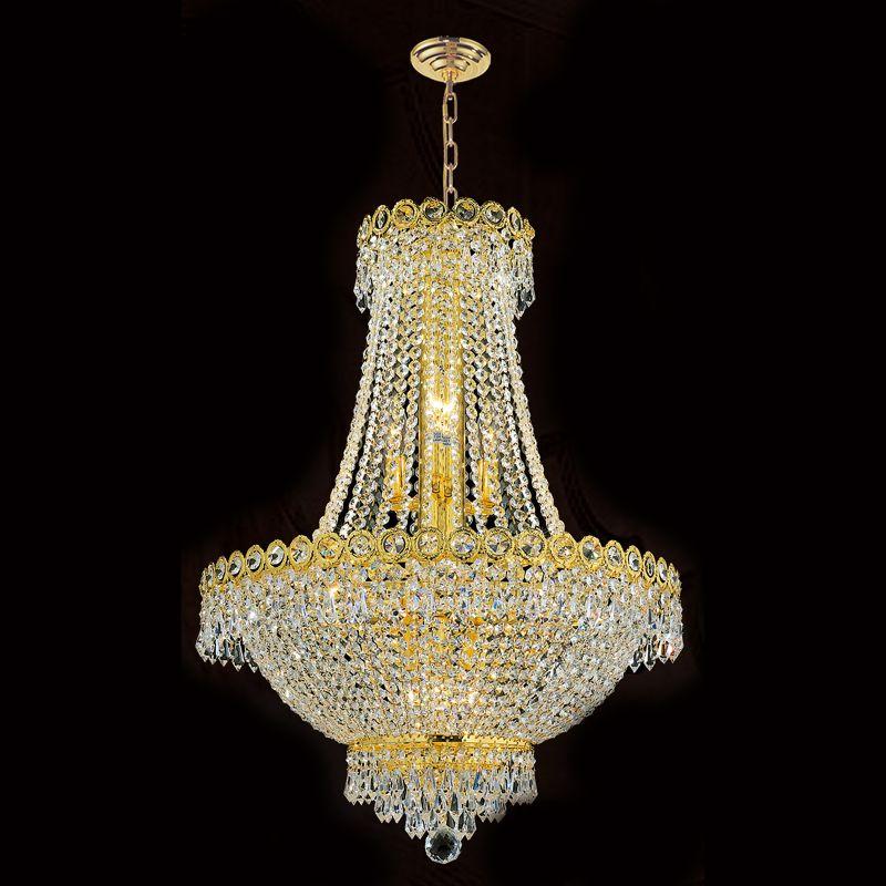 "Worldwide Lighting W83049G20 Empire 12 Light 1 Tier 20"" Gold"