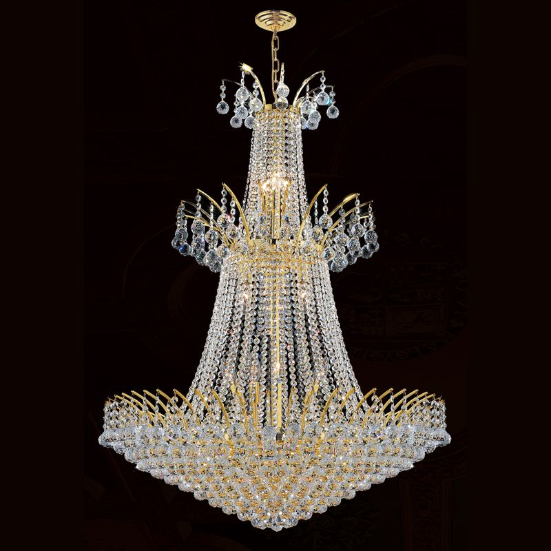 "Worldwide Lighting W83052G32 Empire 18 Light 1 Tier 32"" Gold"