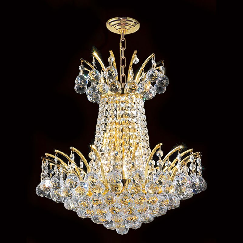 "Worldwide Lighting W83053G16 Empire 4 Light 1 Tier 16"" Gold Chandelier"