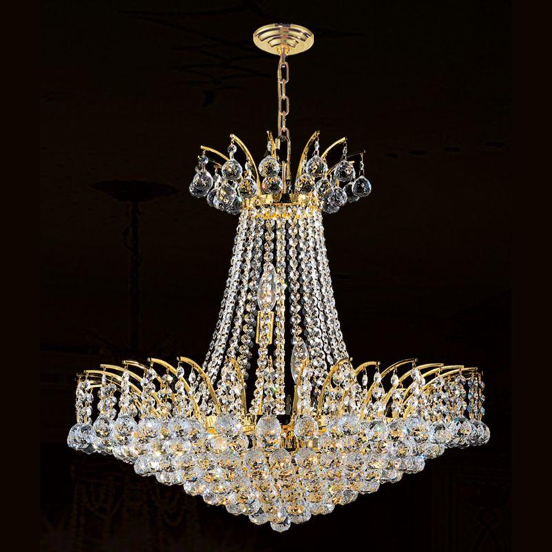 "Worldwide Lighting W83053G24 Empire 11 Light 1 Tier 24"" Gold"
