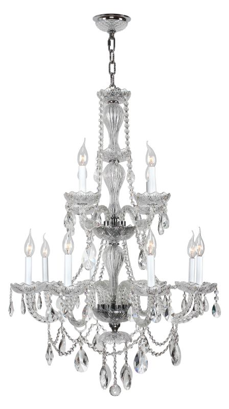 "Worldwide Lighting W83098C28-CL Provence 12 Light 2 Tier 28"" Chrome"