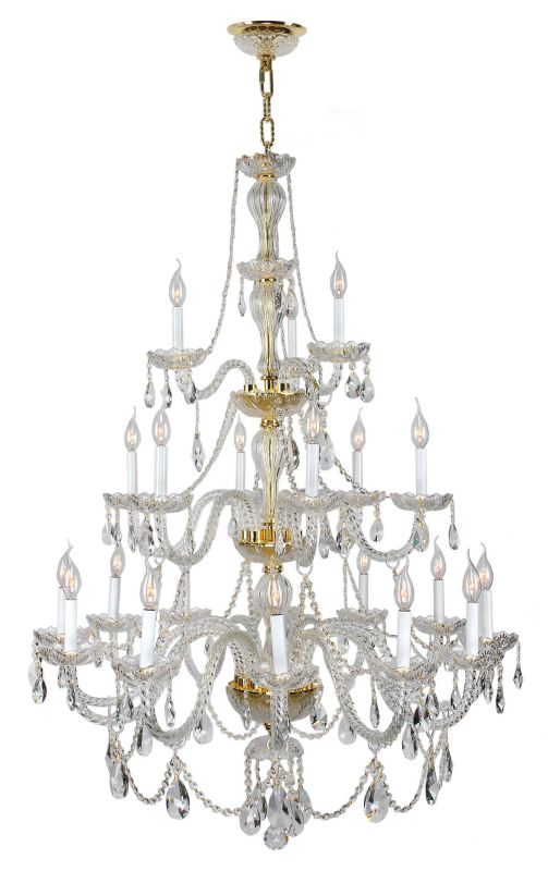 "Worldwide Lighting W83099G38 Provence 21 Light 3 Tier 38"" Gold"