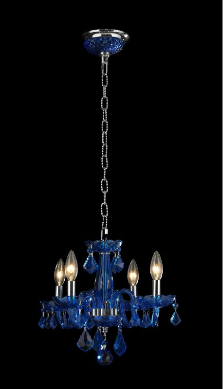 Worldwide Lighting W83100C16-SP Clarion 4 Light Candle Style Crystal