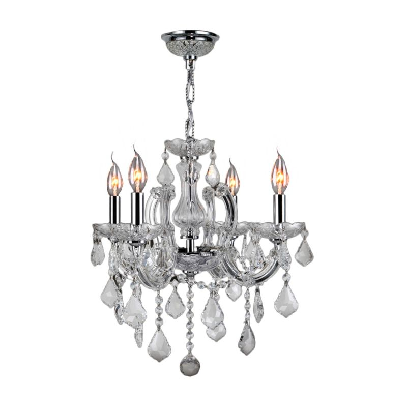 "Worldwide Lighting W8311918 Catherine 4 Light 18"" Wide Crystal"