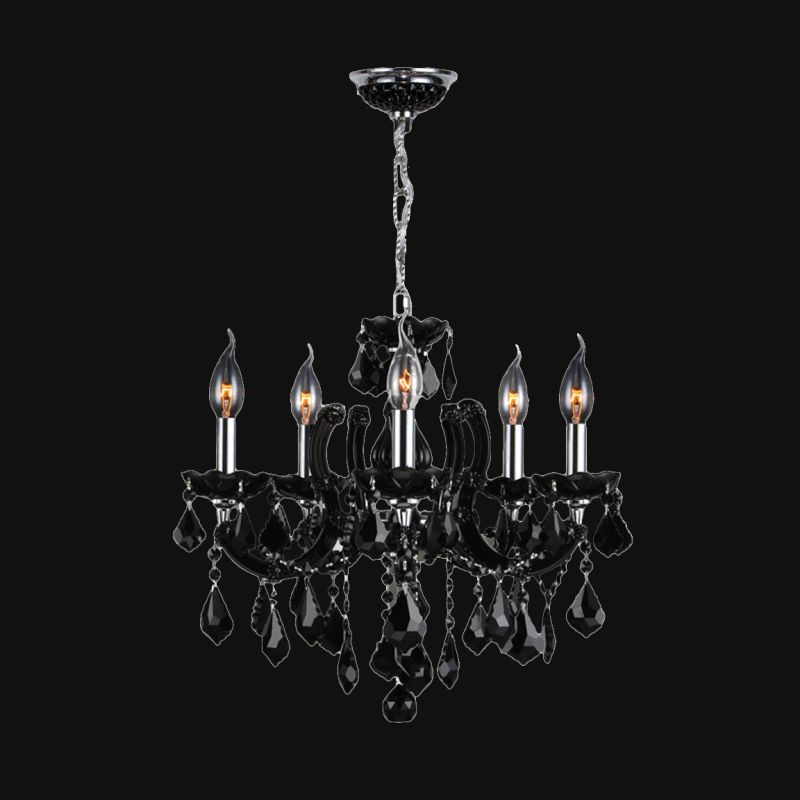 Worldwide Lighting W83120C18-BL Catherine 5 Light Candle Style Crystal