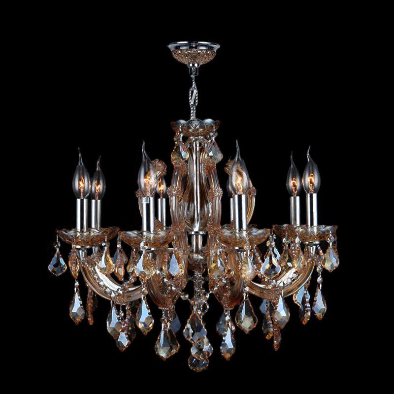 Worldwide Lighting W83122C22-AM Catherine 8 Light Candle Style Crystal