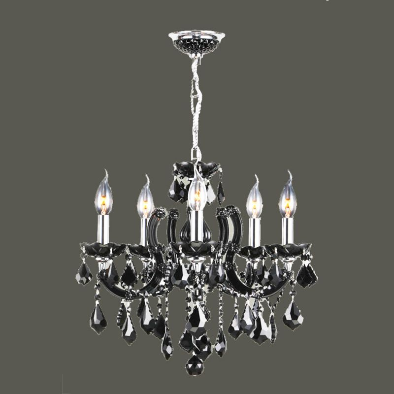 Worldwide Lighting W83122C22-BL Catherine 8 Light Candle Style Crystal