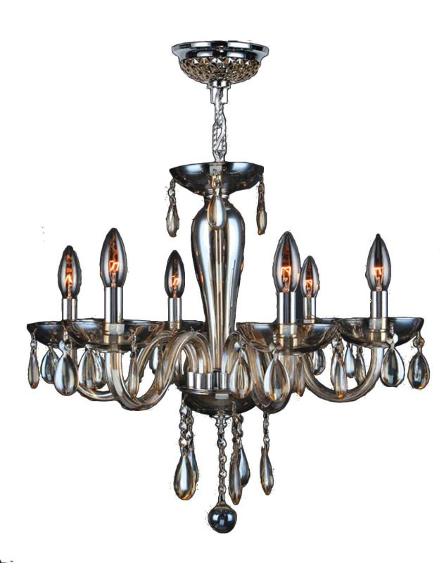 Worldwide Lighting W83128C22-GT Gatsby 6 Light Candle Style Crystal