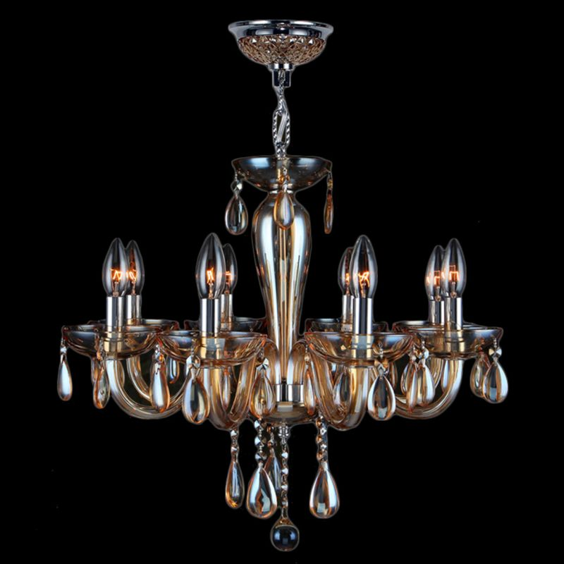 Worldwide Lighting W83129C22-AM Gatsby 8 Light Candle Style Crystal