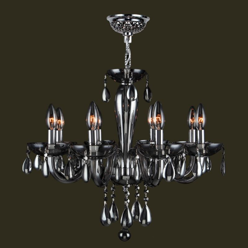 Worldwide Lighting W83129C22-SM Gatsby 8 Light Candle Style Crystal