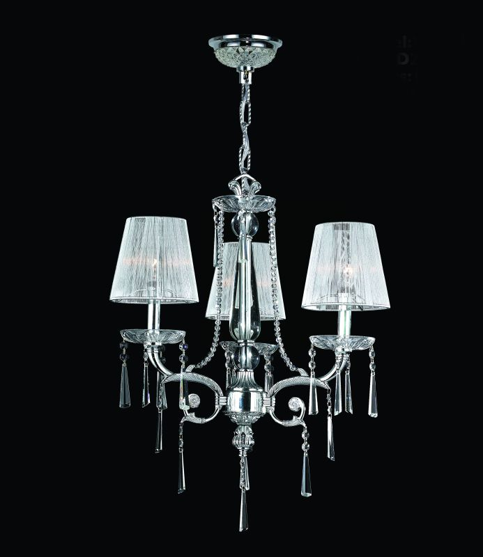 "Worldwide Lighting W83131C20 Orleans 3 Light 1 Tier 20"" Chrome"