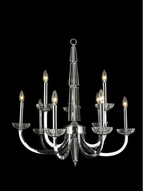 Worldwide Lighting W83158C29 Innsbruck 9 Light Candle Style Chandelier