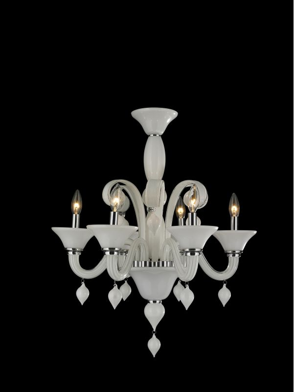 Worldwide Lighting W83174C23-WH Murano 6 Light Candle Style Crystal Sale $552.00 ITEM: bci2263543 ID#:W83174C23-WH :