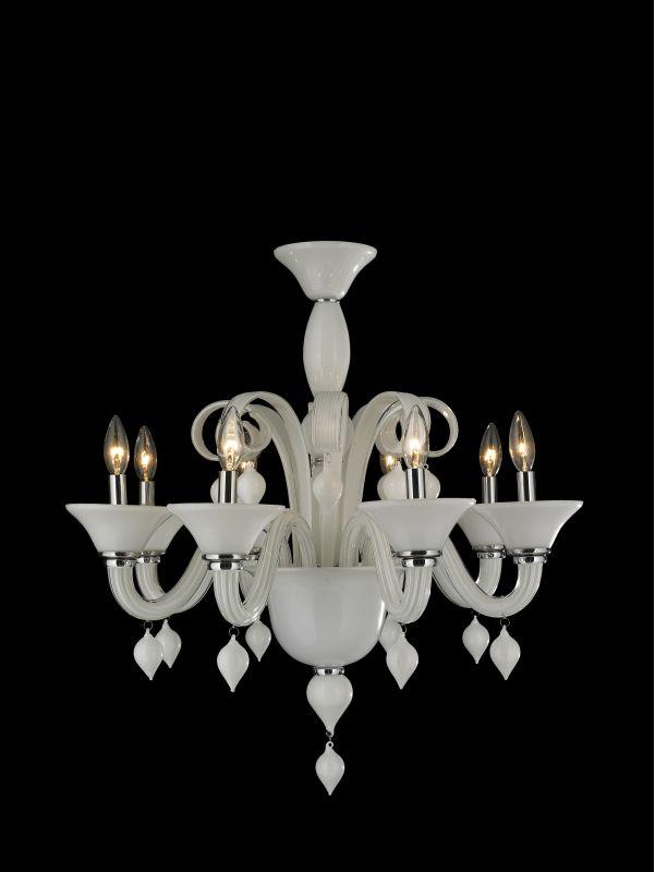 Worldwide Lighting W83174C27 Murano 8 Light 1 Tier Candle Style Sale $718.00 ITEM: bci2590493 ID#:W83174C27-WH UPC: 817484014207 :