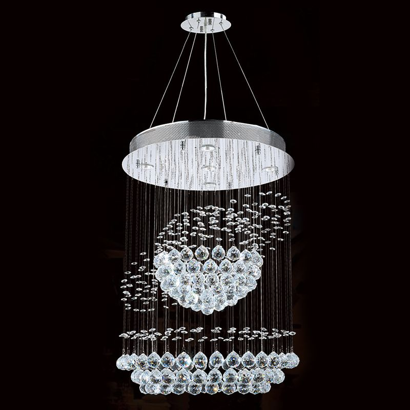Worldwide Lighting W83253C22 Saturn 5 Light 1 Tier Crystal Accent Sale $1026.00 ITEM: bci2590501 ID#:W83253C22 UPC: 817484013149 :