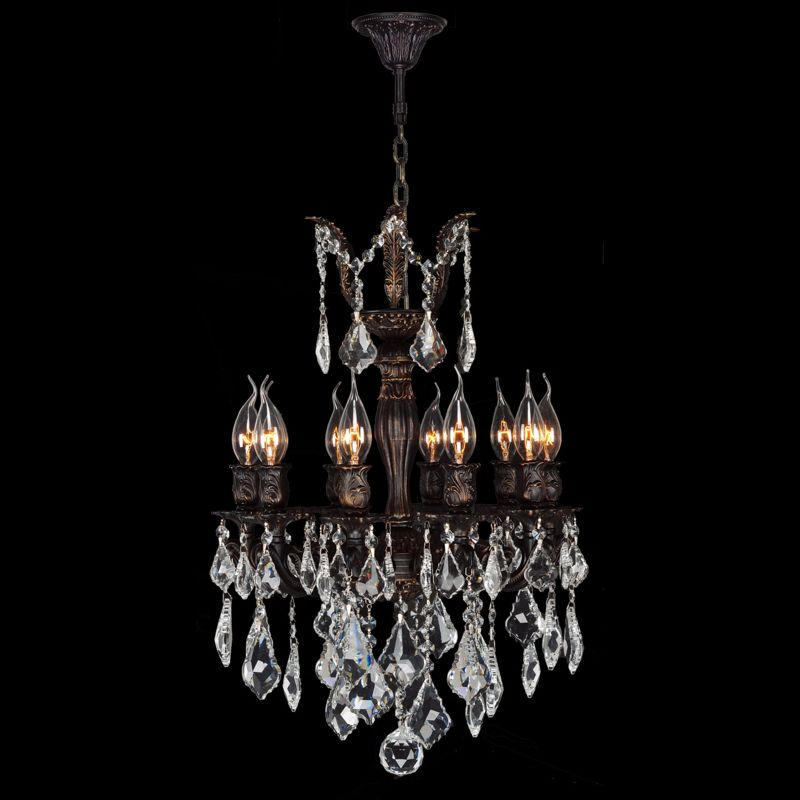 "Worldwide Lighting W83322F17 Versailles 10 Light 1 Tier 17"" Flemish"