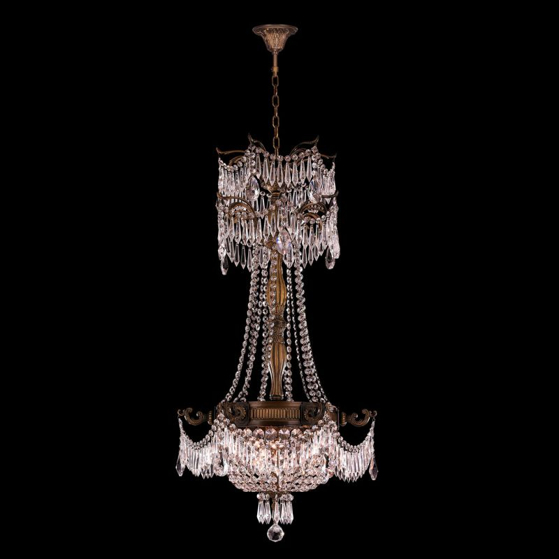 Worldwide Lighting W83355B20-CL Winchester 3 Light Empire Crystal
