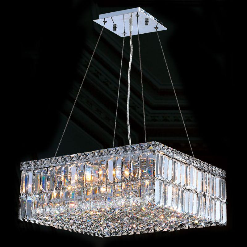 "Worldwide Lighting W83512C20 Cascade 12 Light 1 Tier 20"" Chrome"