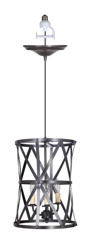Worth Home Products PBC-1011 Instant Pendant Series Triple Light 12""