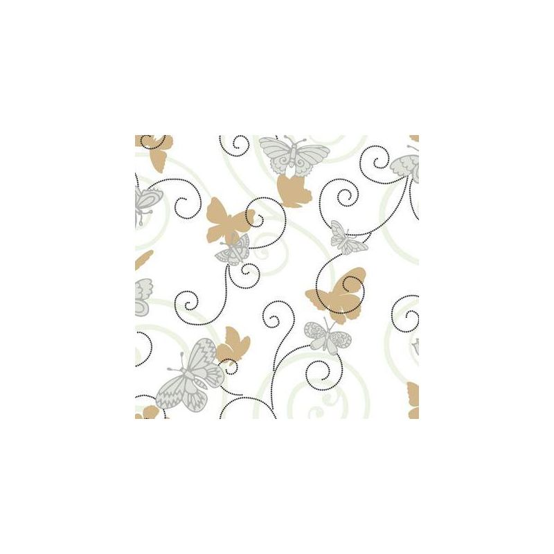 York Wallcoverings BS5396 Room To Grow Butterfly Wallpaper White