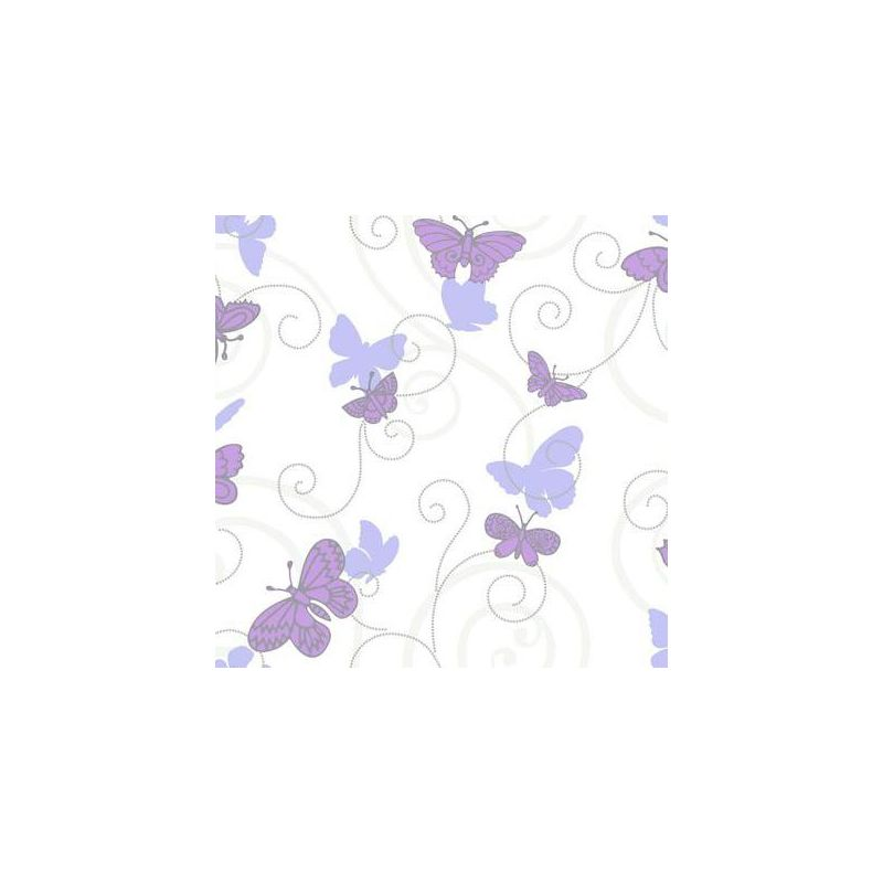York Wallcoverings BS5398 Room To Grow Butterfly Wallpaper White
