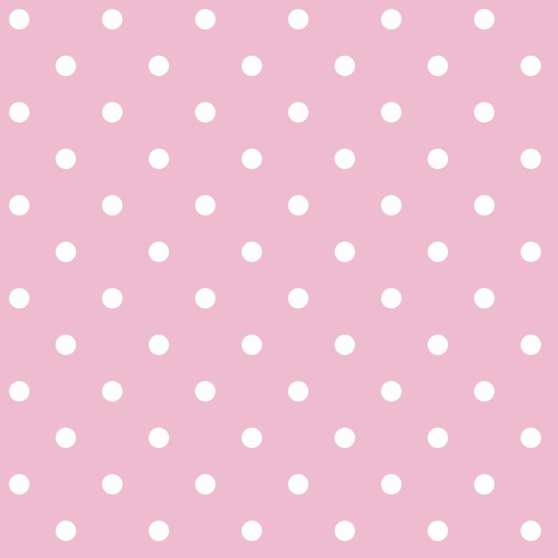 York Wallcoverings BS5444 Room To Grow Circle Wallpaper Pink White