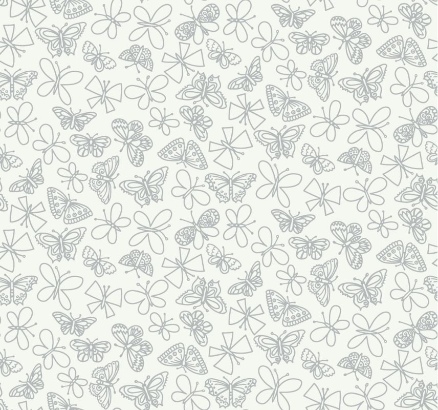 York Wallcoverings BS5539 Room To Grow Glitter Butterfly Wallpaper