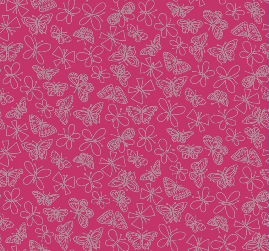 York Wallcoverings BS5540 Room To Grow Glitter Butterfly Wallpaper