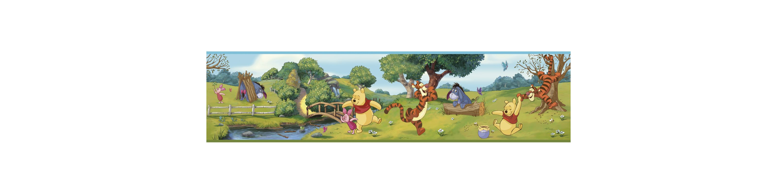 York Wallcoverings DS7765BD Swinging Pooh Border Multicolor Home Decor