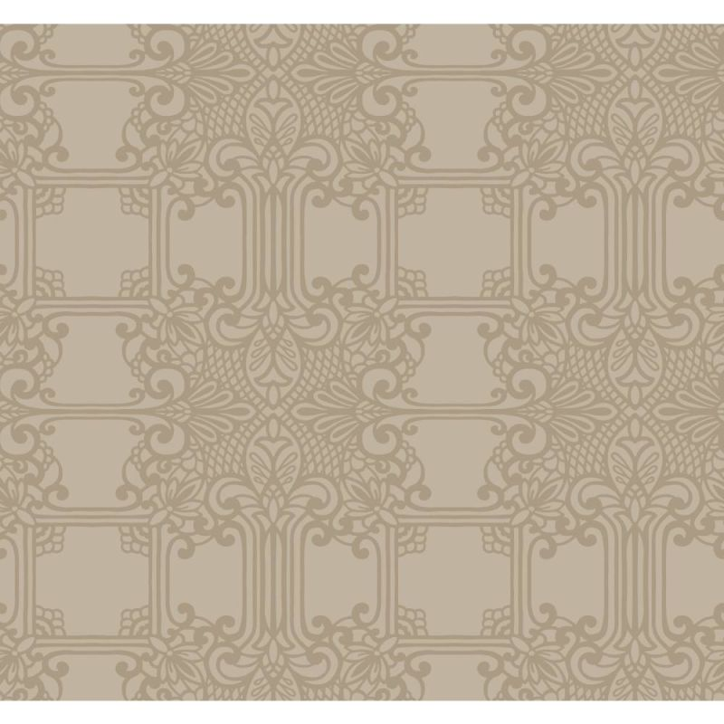York Wallcoverings EK4144 18 Karat II The Plaza Wallpaper Beige Home