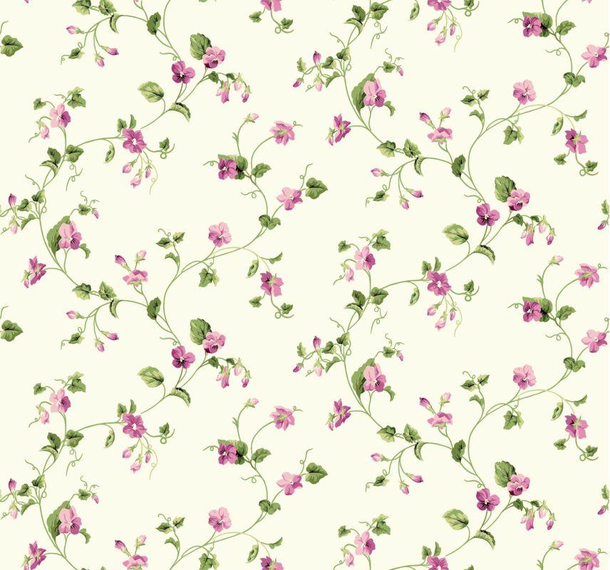 York Wallcoverings ER8109 Waverly Cottage Sweet Violets Trail Sale $71.24 ITEM: bci2543834 ID#:ER8109 UPC: 34878254807 :