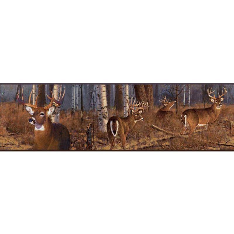 York Wallcoverings FZ4460BDLM Deer Border Multi Home Decor Borders