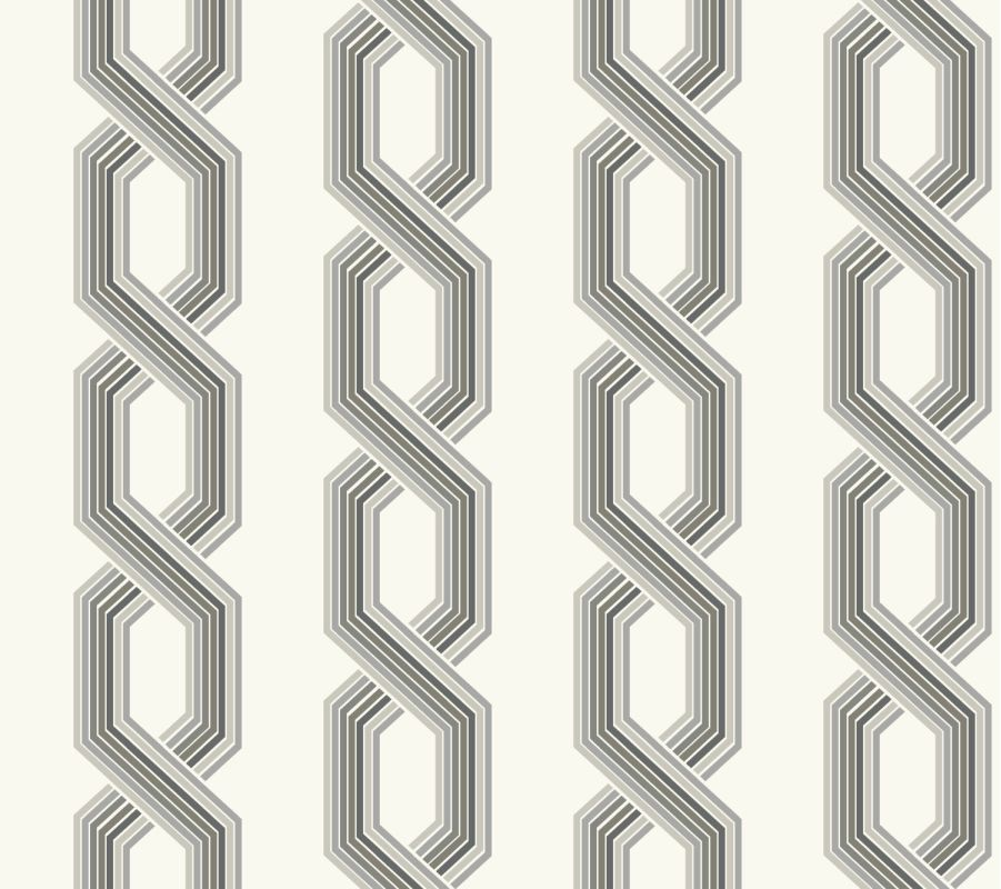York Wallcoverings GE3608 Ashford Geometrics Retro Links Wallpaper