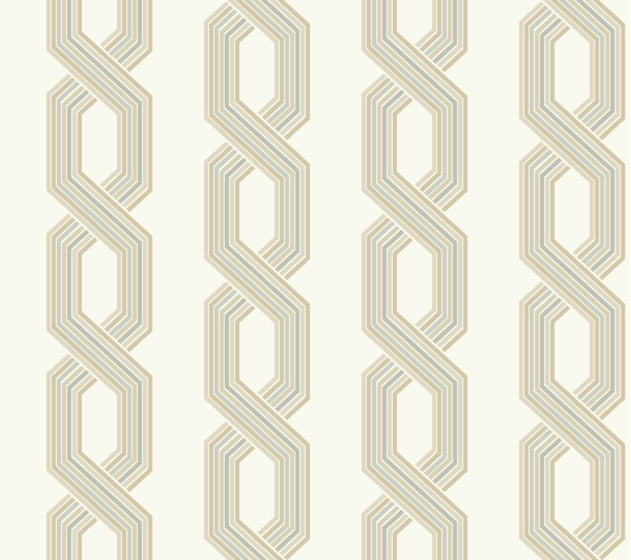 York Wallcoverings GE3609 Ashford Geometrics Retro Links Wallpaper