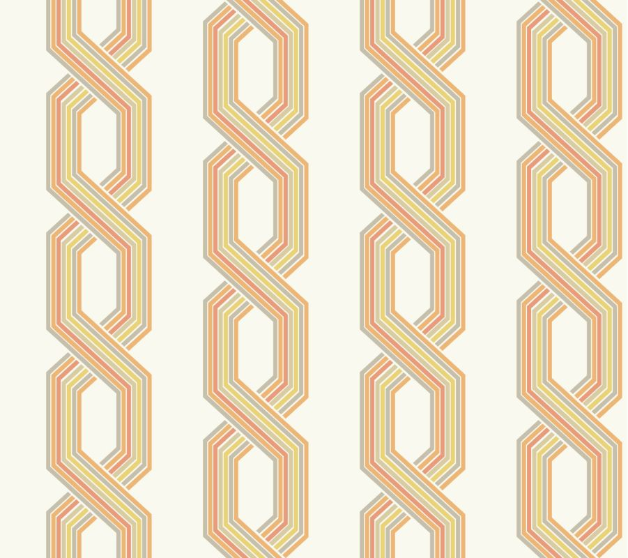 York Wallcoverings GE3613 Ashford Geometrics Retro Links Wallpaper