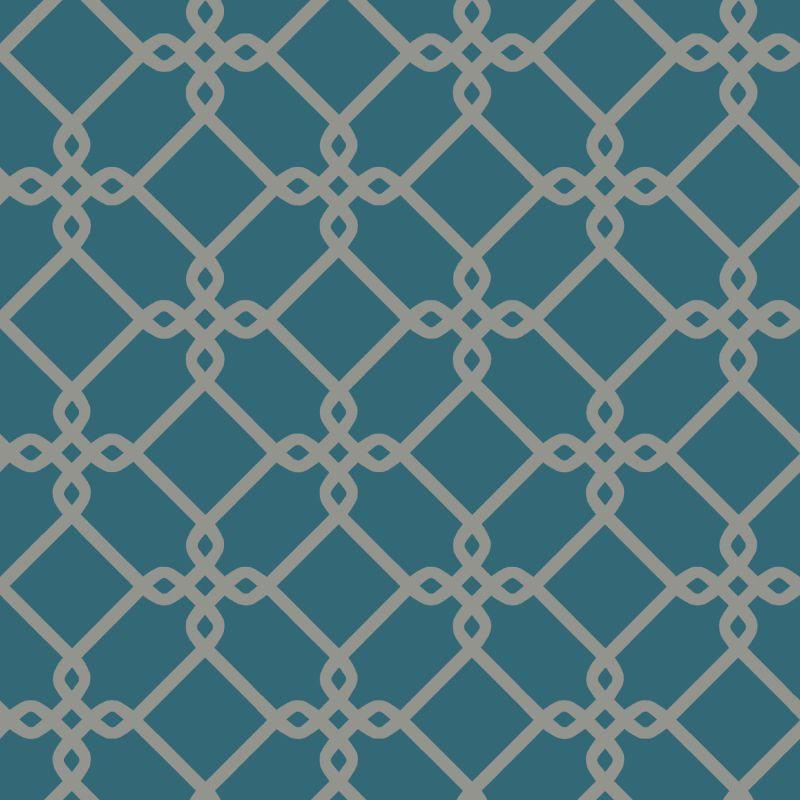 York Wallcoverings GE3628 Ashford Geometrics Threaded Links Wallpaper