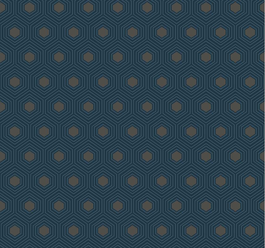 York Wallcoverings GE3640 Ashford Geometrics Honeycomb Wallpaper Navy