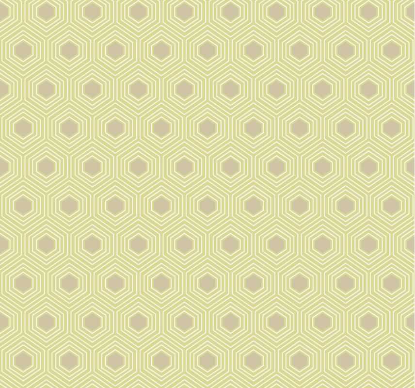 York Wallcoverings GE3644 Ashford Geometrics Honeycomb Wallpaper Light