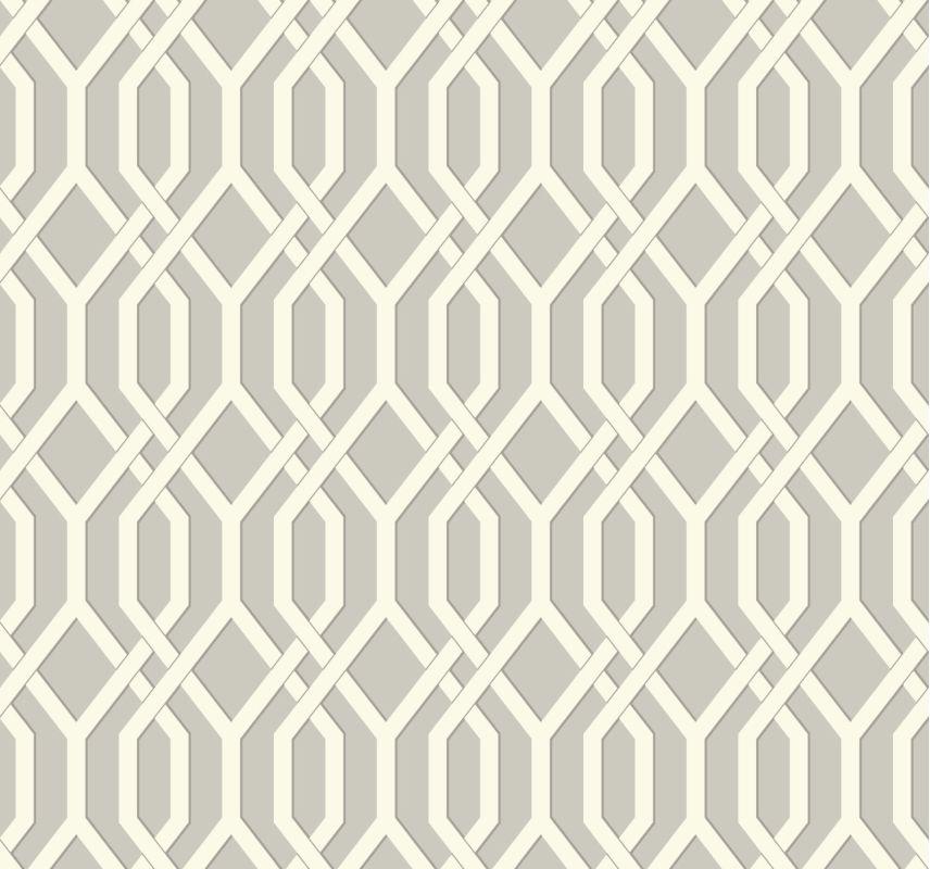 York Wallcoverings GE3682 Ashford Geometrics Garden Pergola Wallpaper