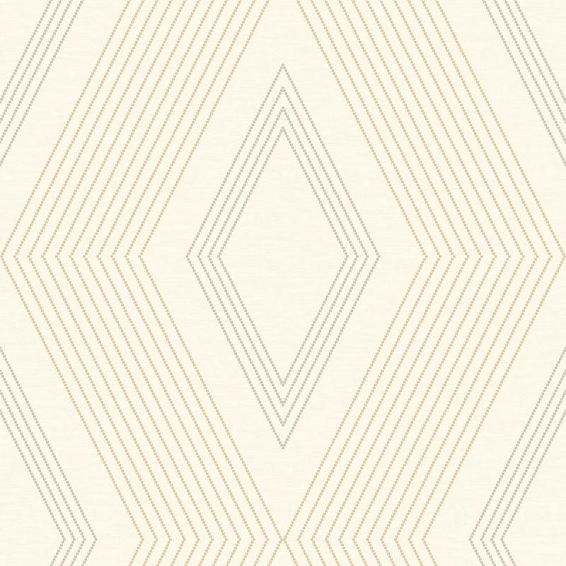 York Wallcoverings GE3691 Ashford Geometrics Aspen Wallpaper Beige