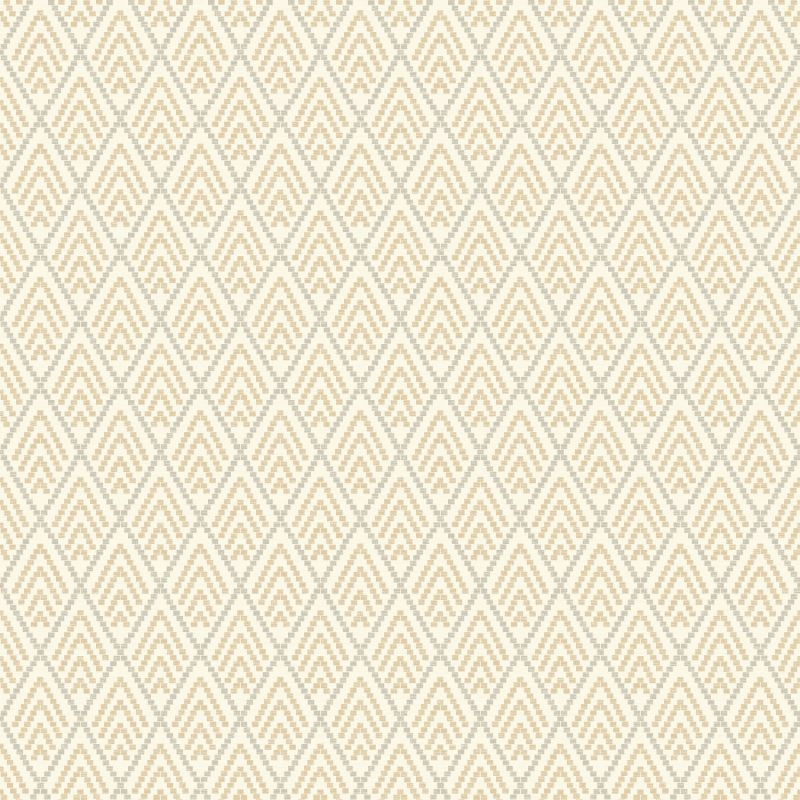 York Wallcoverings GE3699 Ashford Geometrics Chalet Wallpaper Beige
