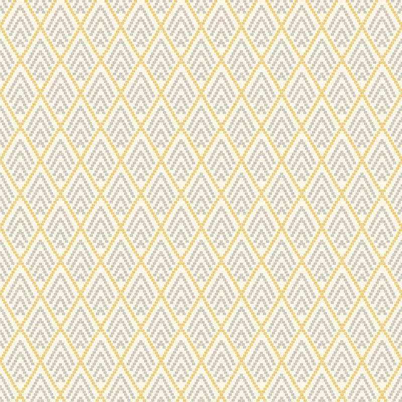 York Wallcoverings GE3700 Ashford Geometrics Chalet Wallpaper Cream