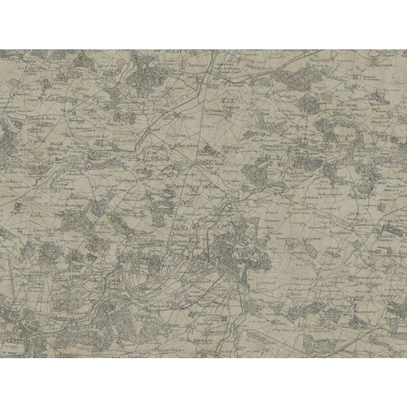 York Wallcoverings GX8175 Passport Vintage Map Wallpaper Slate Gray