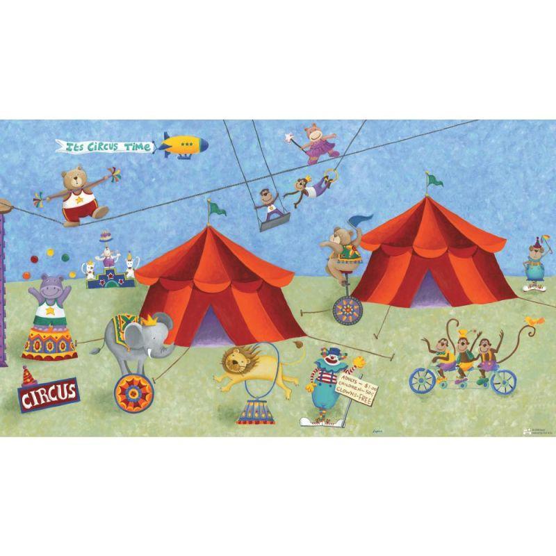York Wallcoverings JL1182M RoomMates Big Top Circus Chair Rail