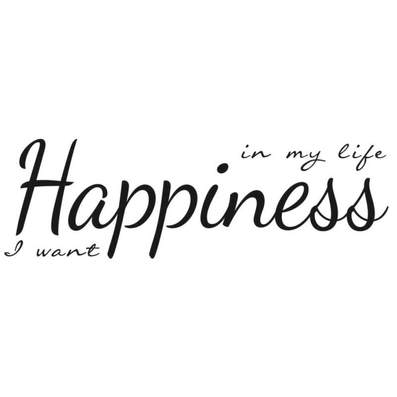 York Wallcoverings M7208 Happiness Word Transfer Black Home Decor Wall