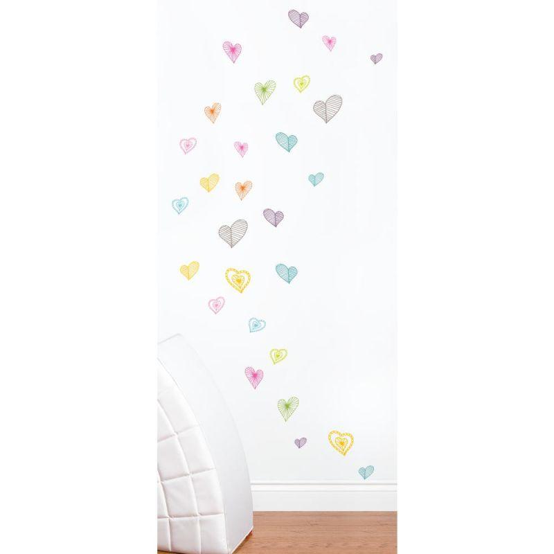 York Wallcoverings MIA910 Mia & Co Light Hearts Peel & Stick Wall