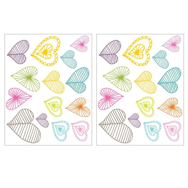 York Wallcoverings MIA910B9M Light Hearts Peel and Stick Wall Decals